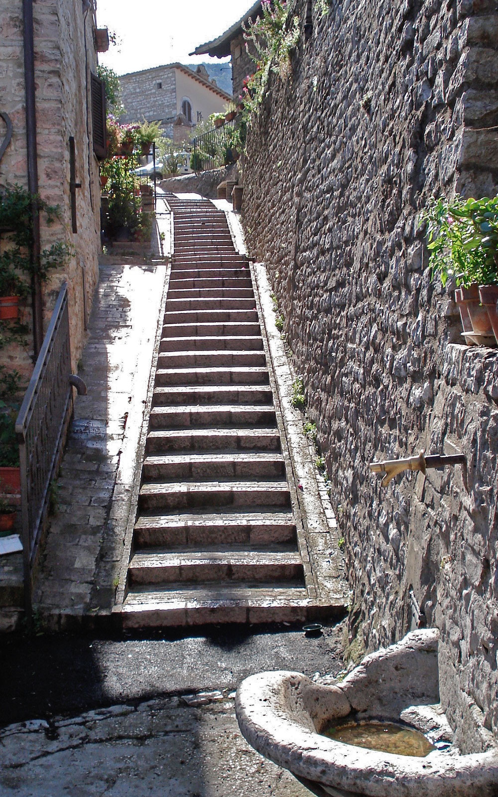 Assisi Oberstadt Treppe